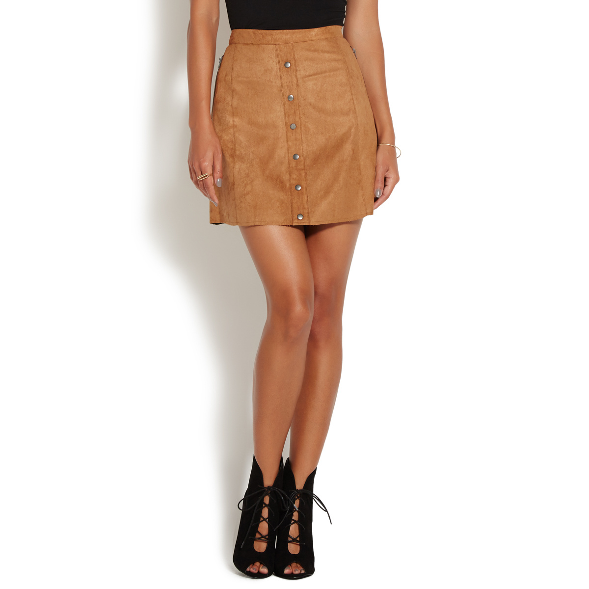 FAUX SUEDE SKIRT - ShoeDazzle