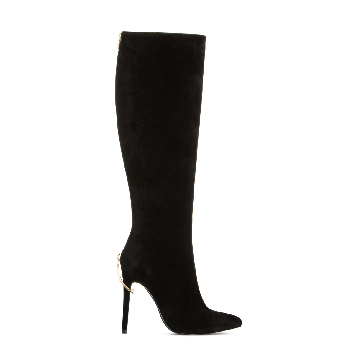 Ariz Cheap Knee High Boots, Women's Black High Heel Boots ...