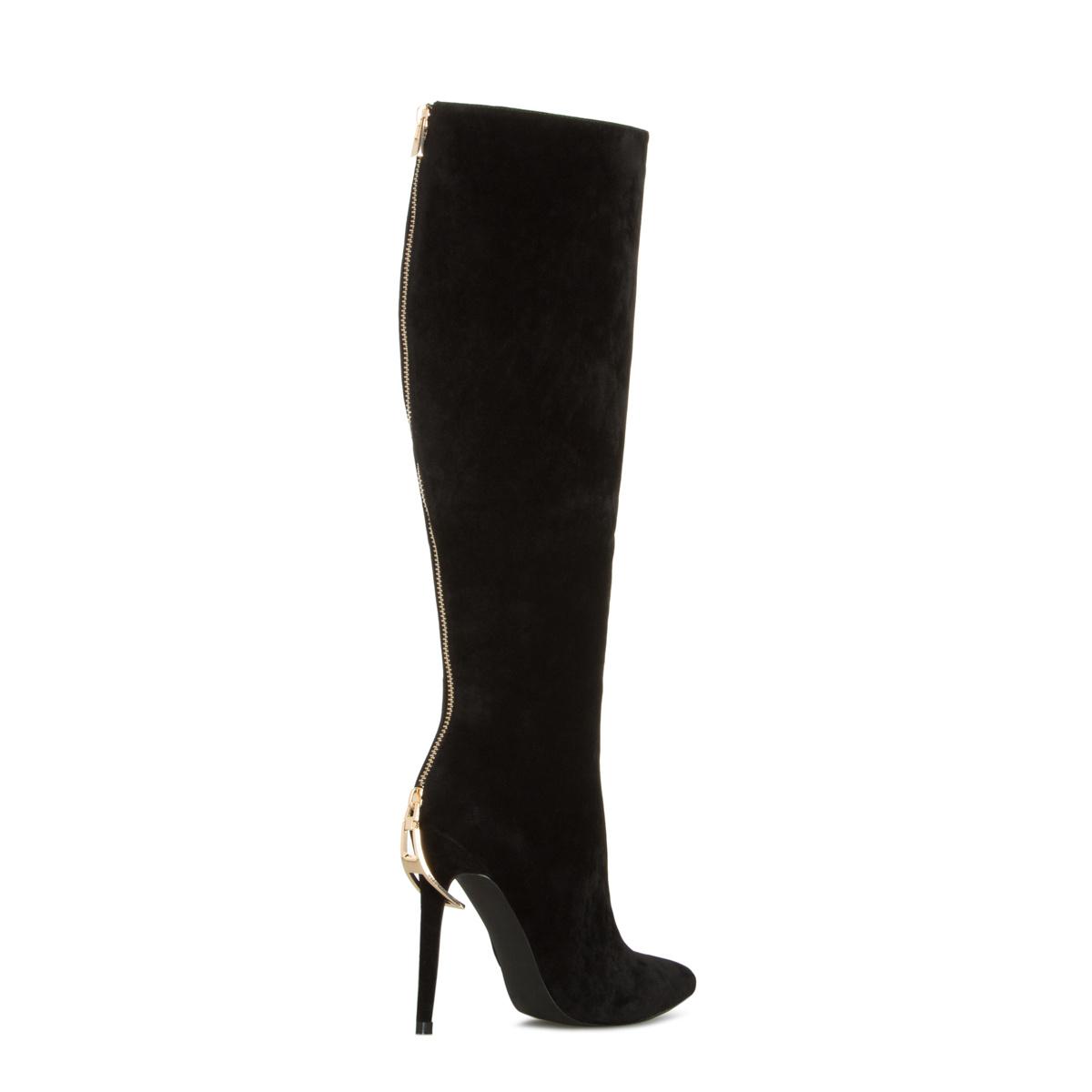 Sexy Black High Heel Boots
