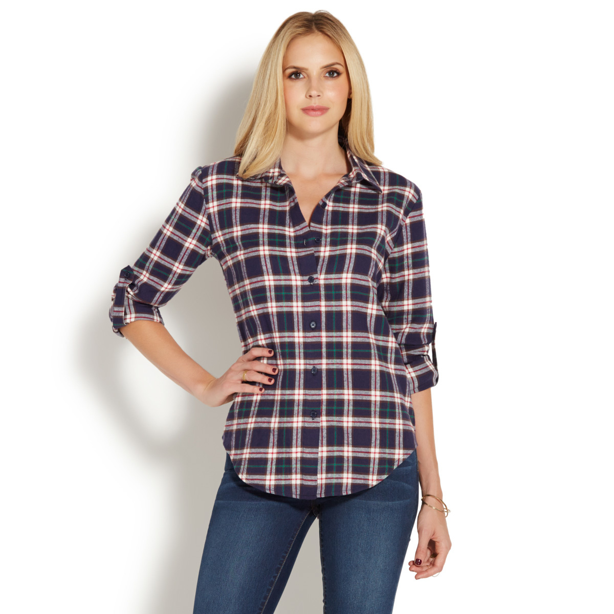 Boyfriend plaid shirt shoedazzle for Buy plaid shirts online