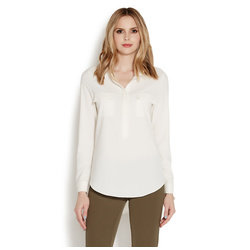 HIGH LOW 1/2 PLACKET TUNIC