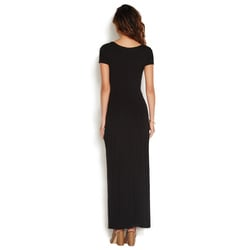 MAXI KNIT KNOTTED DRESS