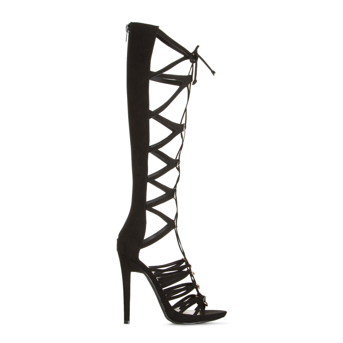Women's High Heels, Sexy Black Heels, Strappy Sandals, Kitten Heel ...