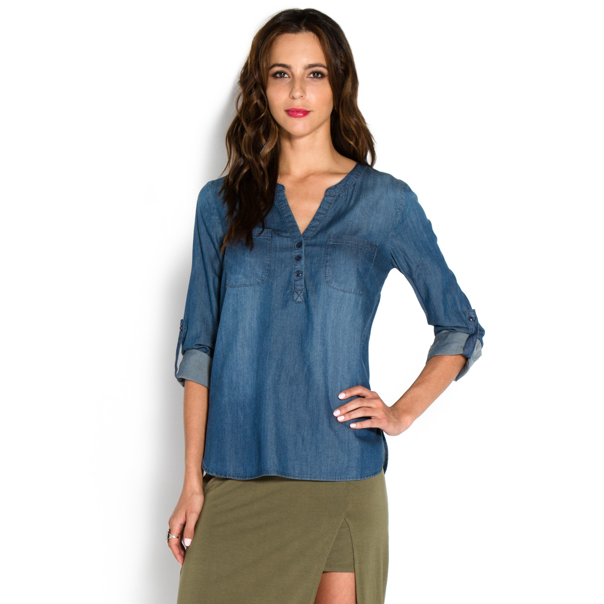 Chambray top shoedazzle for Chambray top