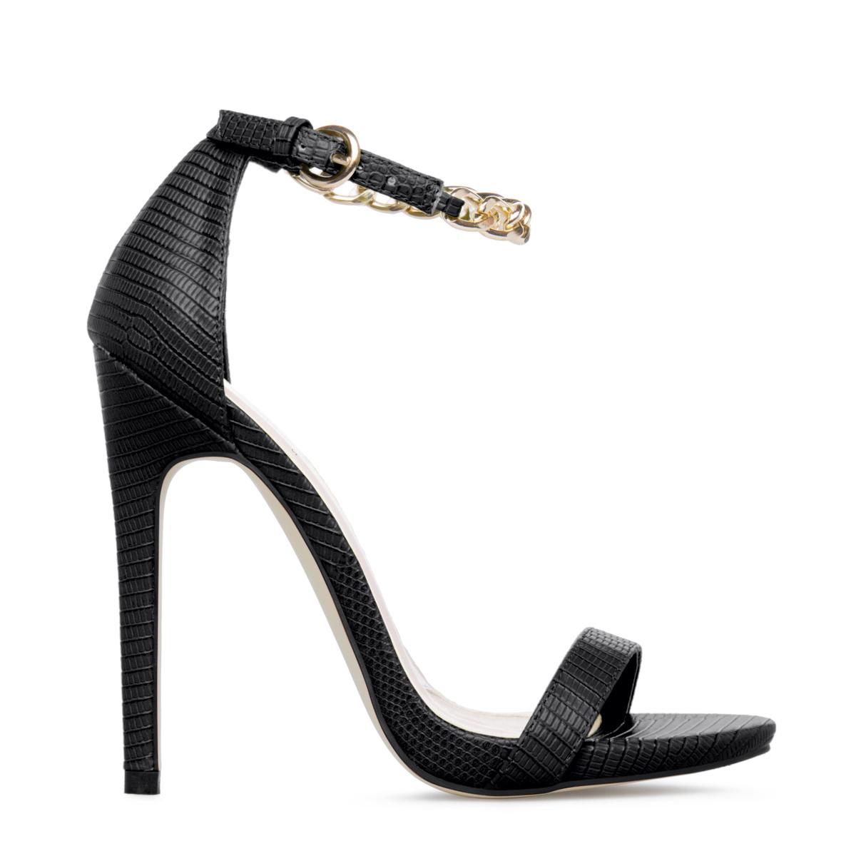 Vanette Black High Heels Women&39s High Heel Sandals Sexy Summer