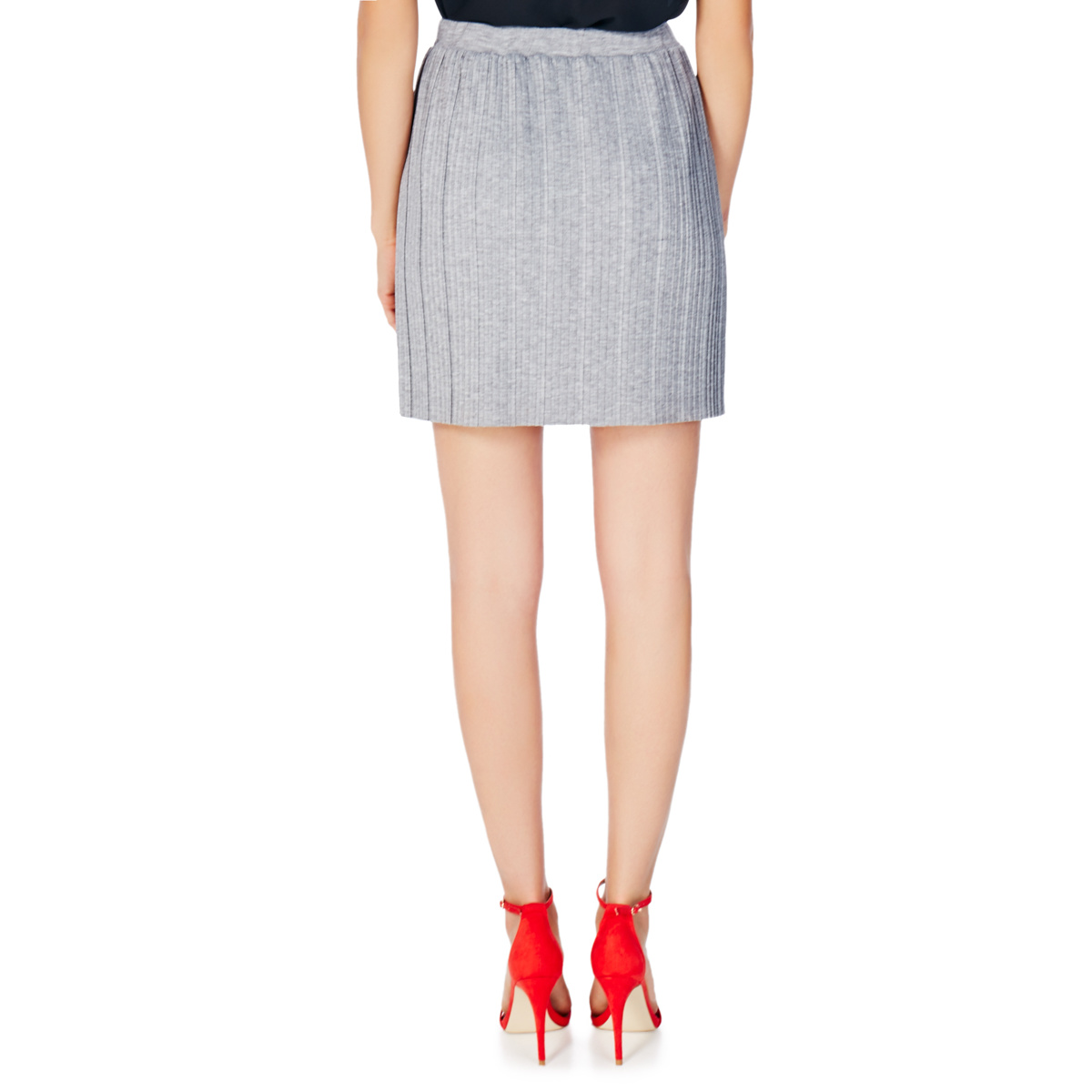 jersey pleated skirt shoedazzle