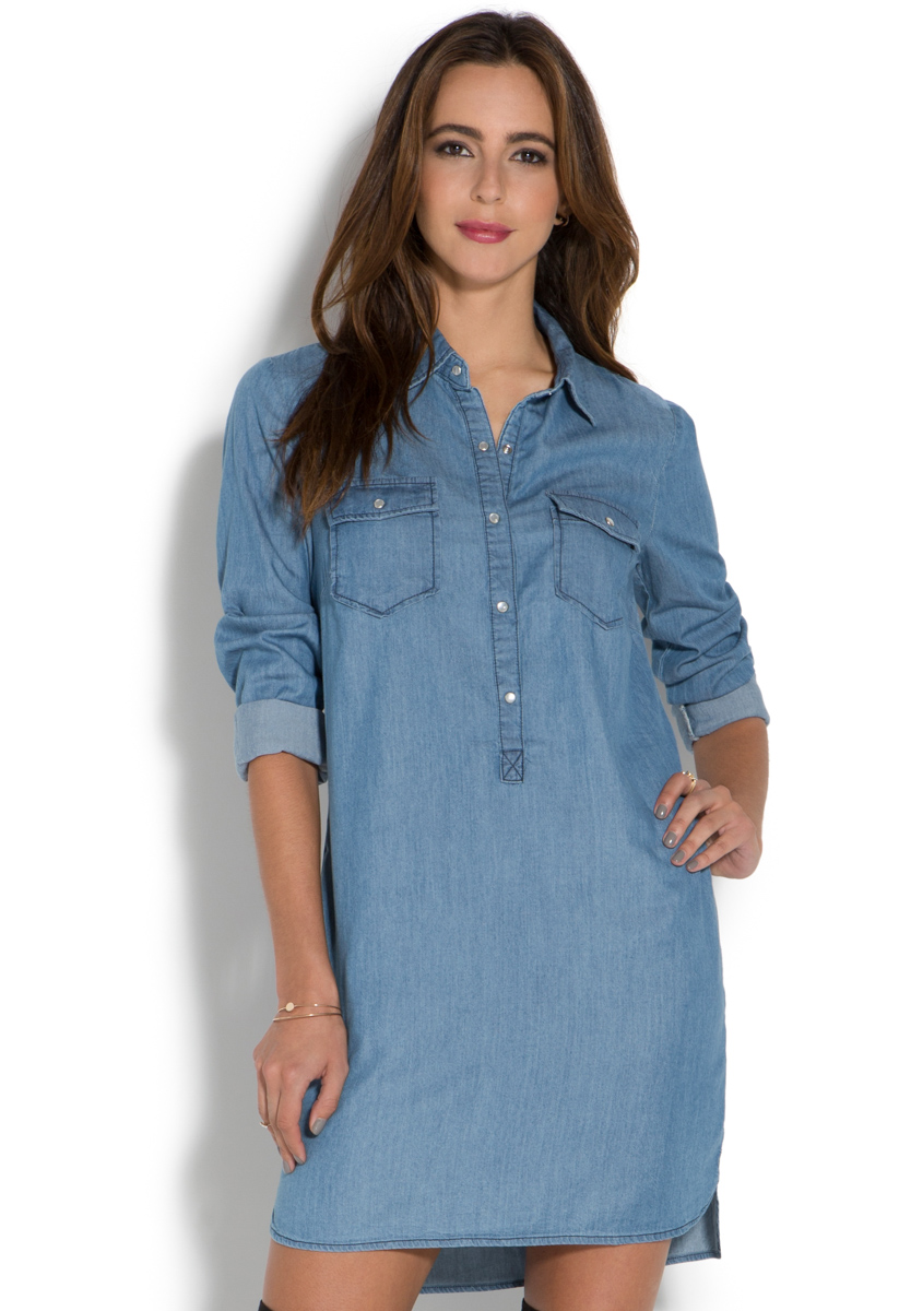 Chambray Shirt Dresses