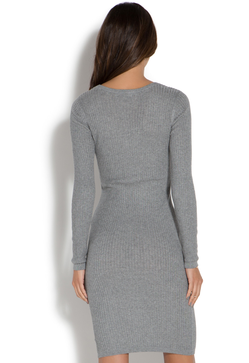 Neck Ribbed Sweater