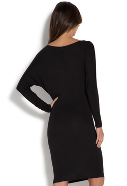 ASYMMETRICAL LONG SLEEVE KNIT