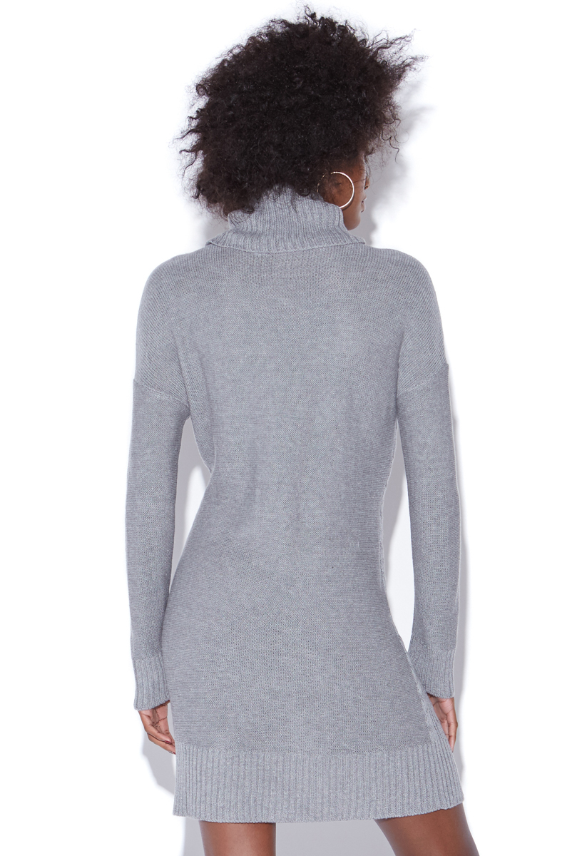 Relaxed Cable Knit Sweater Dress Shoedazzle