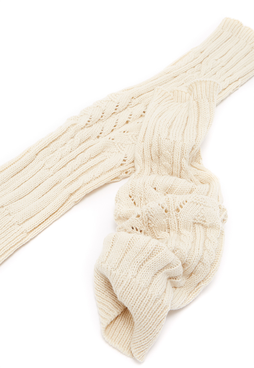 Knit Leg Warmers Cable Pattern : CABLE KNIT LEG WARMERS - ShoeDazzle