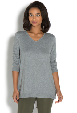 CHIFFON BACK SWEATER