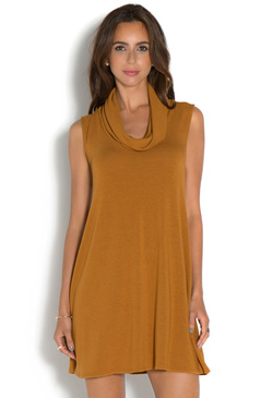 COWL NECK SWING SWEATER DRESS - ShoeDazzle