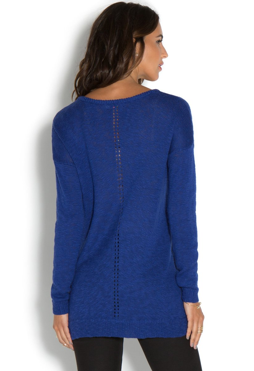 V Neck Tunic Sweater 89