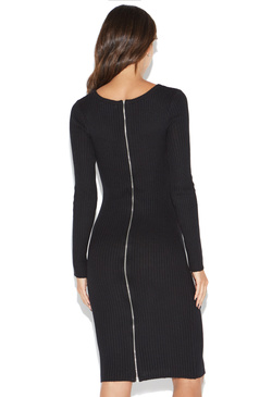 ZIP BACK RIBBED DRESS
