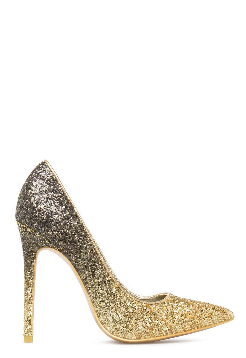 Sequin Peep Toe Shoes