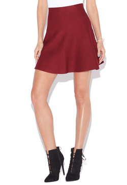 FIT & FLARE SWEATER SKIRT