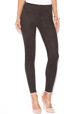 FAUX SUEDE SEAMED LEGGING