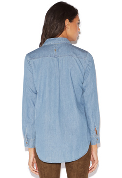 PATCHWORK CHAMBRAY SHIRT