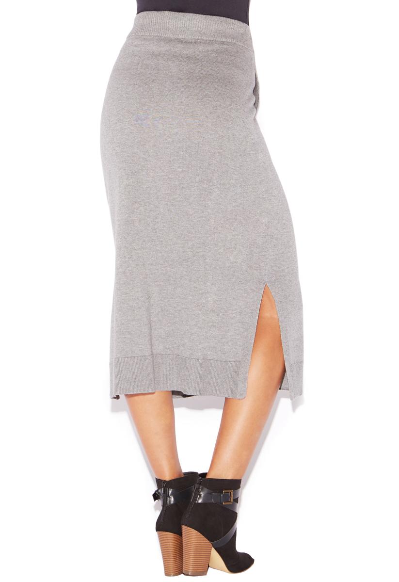 sweater knit midi skirt shoedazzle