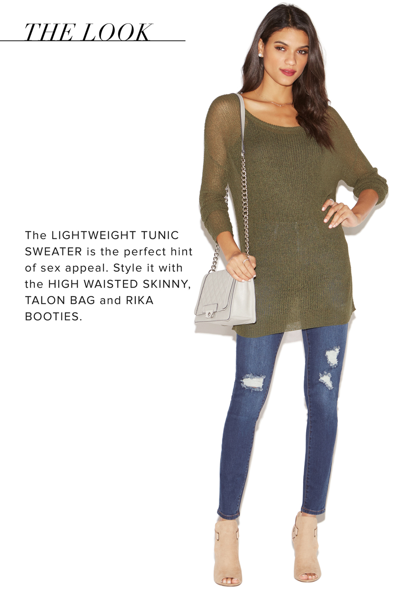 LIGHTWEIGHT TUNIC SWEATER - ShoeDazzle