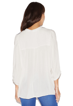 EMBROIDERED DOLMAN TOP