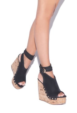 SARAHH STUDDED PLATFORM WEDGE