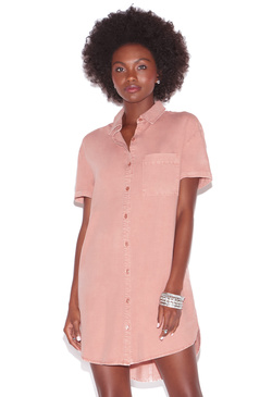 CUFF SLEEVE SHIRT DRESS