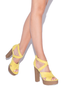 Yellow Heels On Sale - 2 Pairs for $39.95 for New Members!