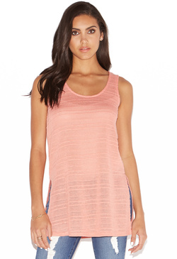 TEXTURED SLEEVELESS TANK