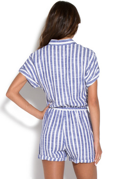 LINEN BUTTON DOWN ROMPER
