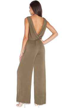 CROSS OVER KNIT JUMPSUIT