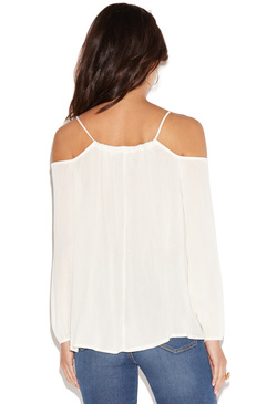 FLIRTY OPEN SHOULDER TOP