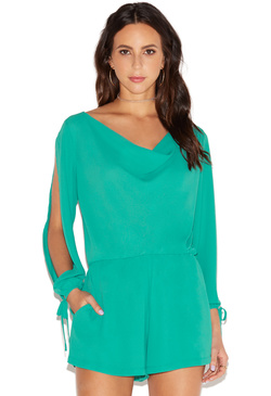 OPEN SLEEVE ROMPER