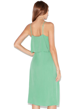 RUFFLE FRONT TANK DRESS