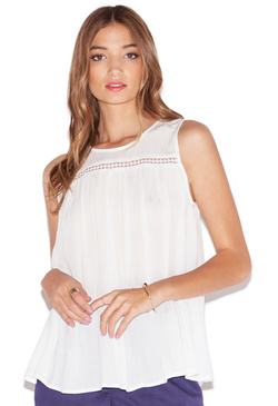 SLEEVELESS GAUZE TANK