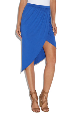 SIDE RUCHED KNIT SKIRT