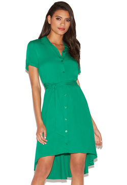 EASY HIGH LOW SHIRT DRESS