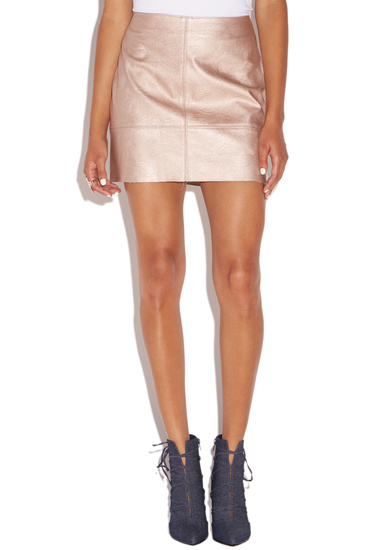 2733ea376 FAUX LEATHER MINI SKIRT - ShoeDazzle