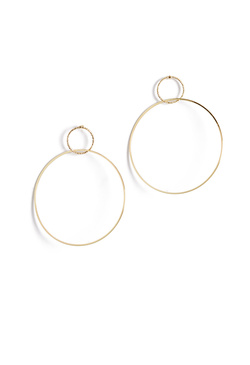 CONNECTED HOOP EARRINGS
