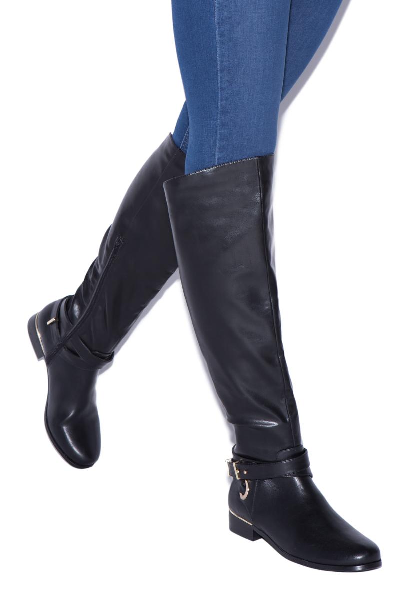 brittanee flat boot shoedazzle