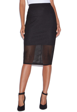 MIDI FISHNET SKIRT