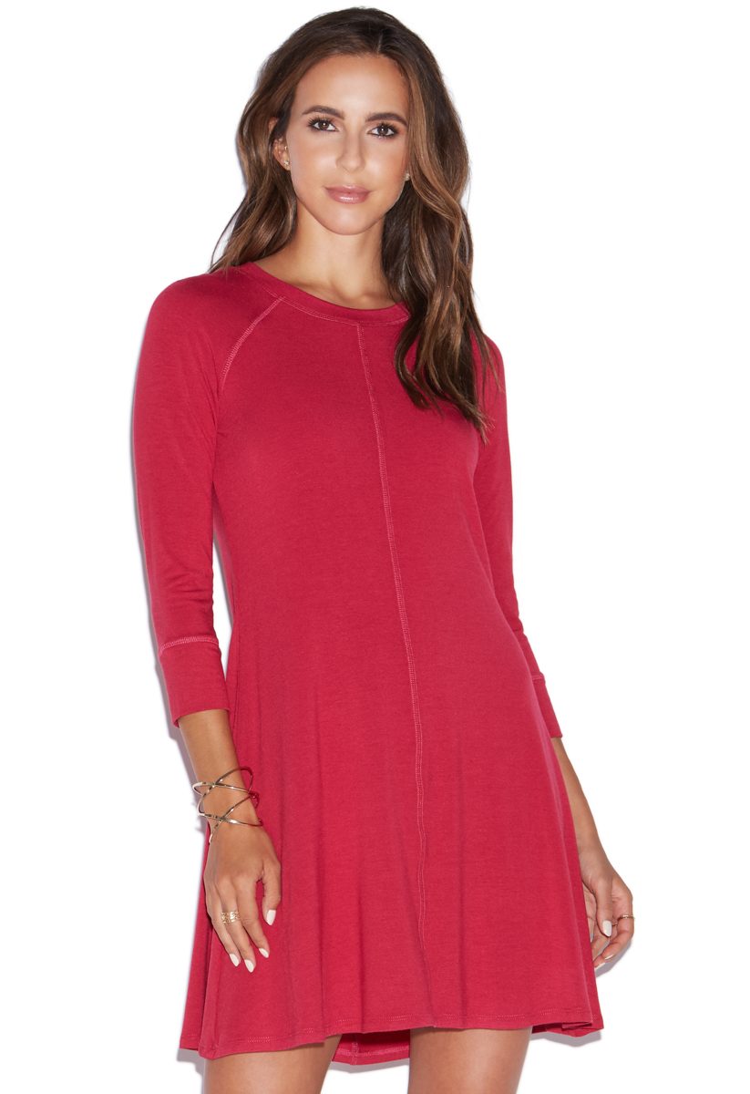 """""""""""ShoeDazzle 3/4 Sleeve Swing Dress Womens Persian Red Size XS"""""""""""" DY1722141-7935-44010"""