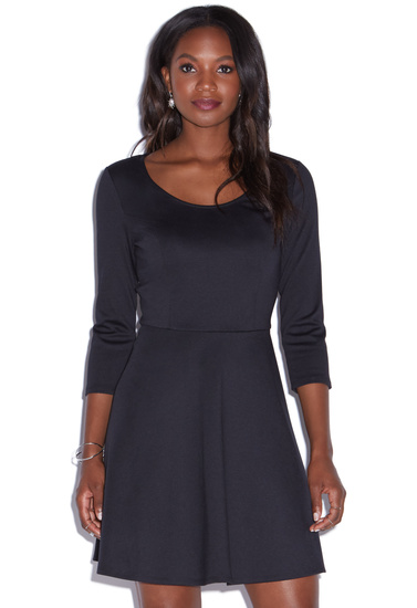 b1e31faa5ac3 FIT AND FLARE PONTE KNIT DRESS - ShoeDazzle