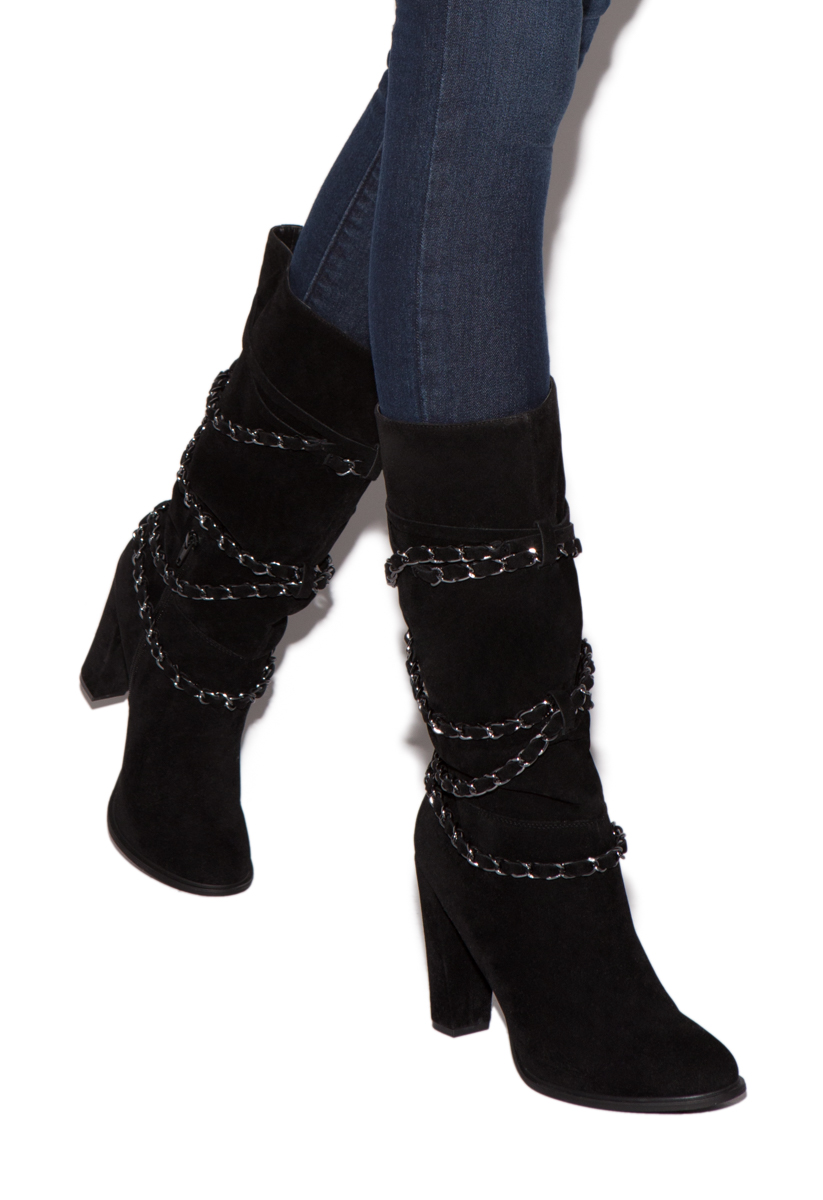 55d944aaa71 Material  Faux-suede. Imported. Color  BLACK  Sizing  Shaft height   calf  circumference increases or decreases by 0.5