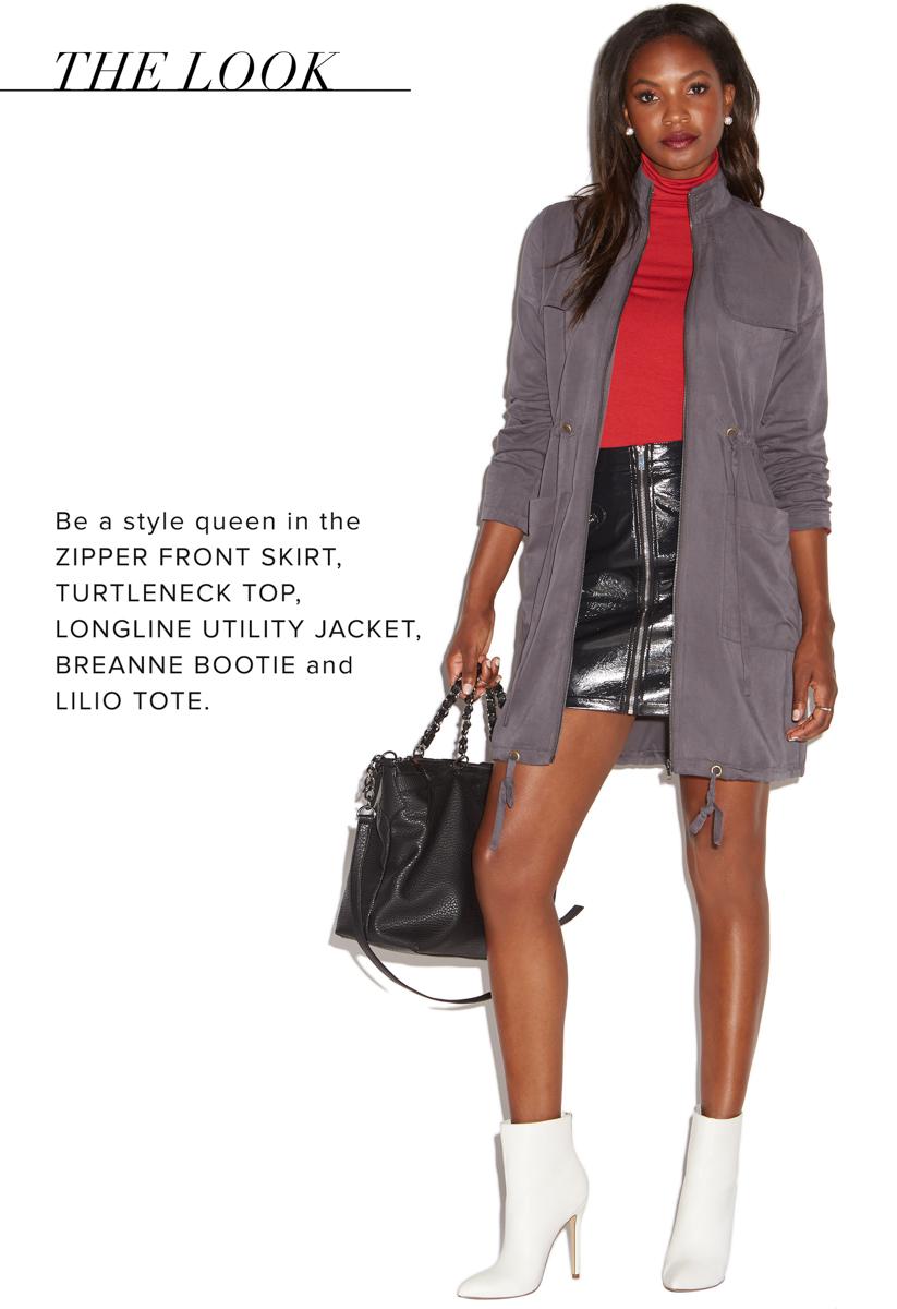 Zipper Front Skirt 77