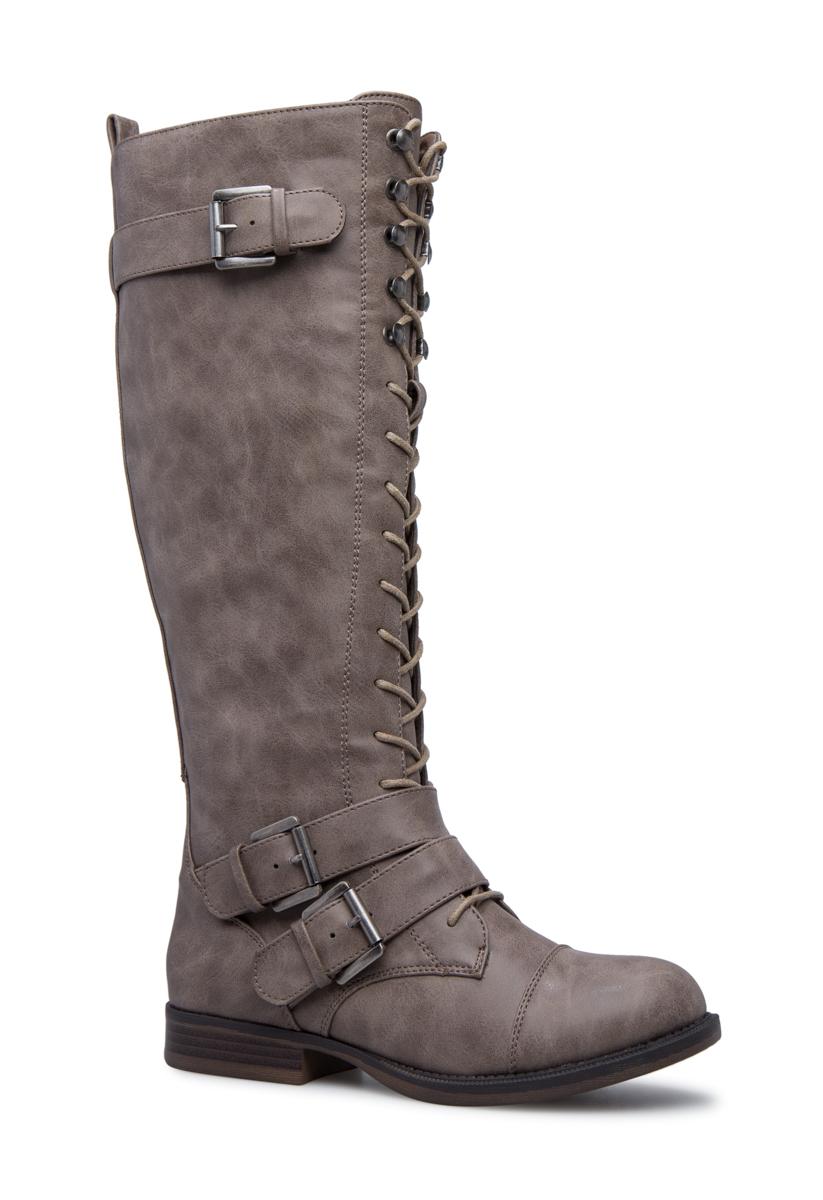 a7203a2fa27 AMEZE FLAT COMBAT BOOT - ShoeDazzle