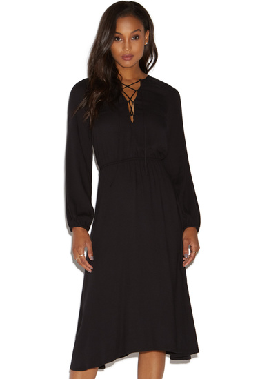 6a81c57daadc LACE-UP MIDI DRESS - ShoeDazzle