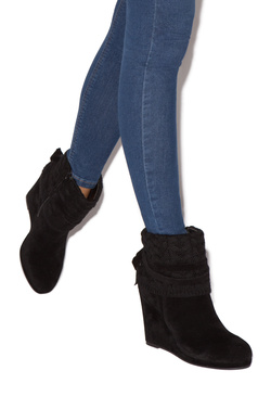 LACEY SWEATER WEDGE BOOTIE