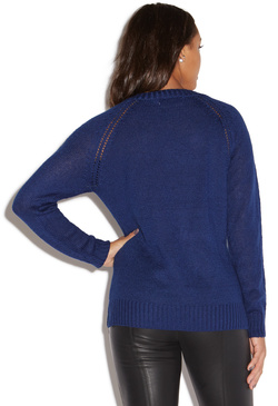 CABLE STITCH V-NECK SWEATER